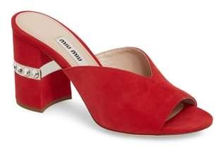 Miu Miu Jewel Slide Sandal