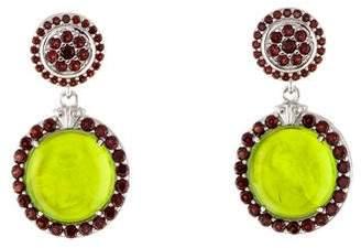 Tagliamonte Garnet-Accented Mother of Pearl Doublet & Venetian Intaglio Drop Earrings