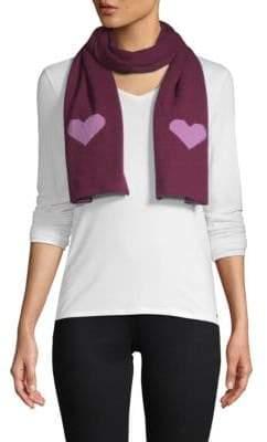 Portolano Wool-Blend Heart Scarf