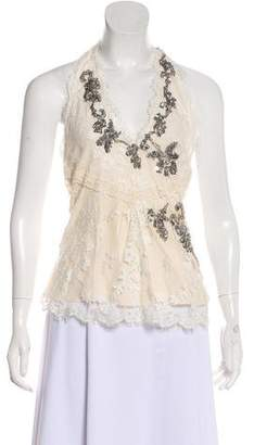 Temperley London Lace Halter Top w/ Tags