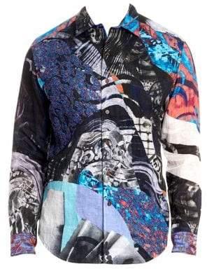 Robert Graham Cotton Button-Front Shirt