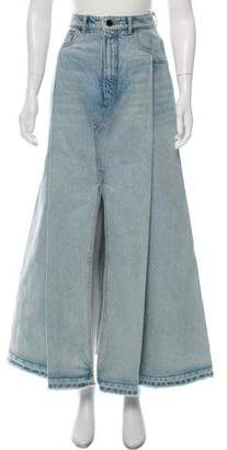 Alexander Wang Denim x Denim Maxi Skirt