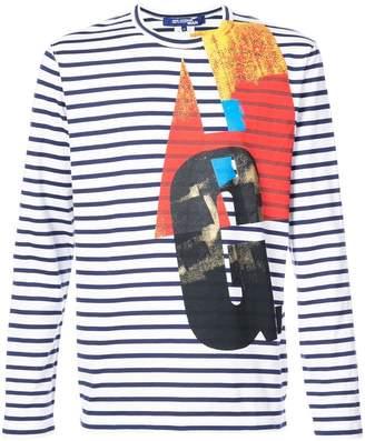 Junya Watanabe printed striped T-shirt