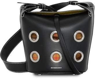 Burberry The Mini Bucket Bag in Grommeted Leather
