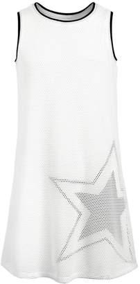 Ideology Big Girls Graphic-Print Mesh Tank Dress, Created for Macy's