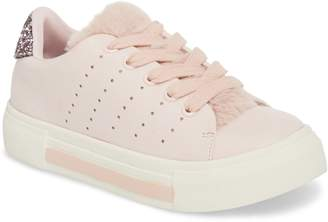 Dolce Vita Cabel Glitter Faux Fur Sneaker