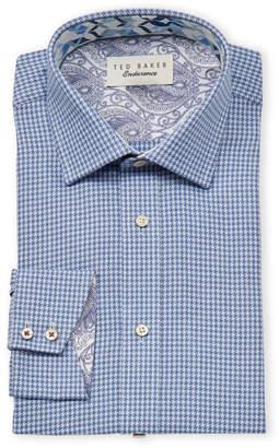 Ted Baker Endurance Houndstooth Long Sleeve Dress Shirt