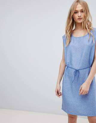 Blend She Mally Denim Belted Print Dress