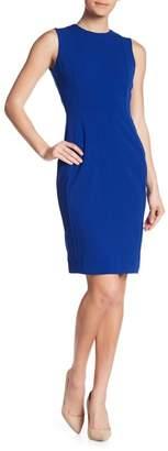 Calvin Klein Solid Crepe Sheath Dress