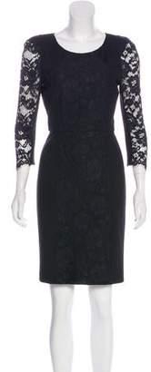 Tibi Guipure Lace Long Sleeve Mini Dress