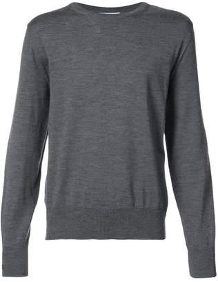 Thom Browne Relaxed Crewneck Pullover In Medium Grey Mercerized Merino