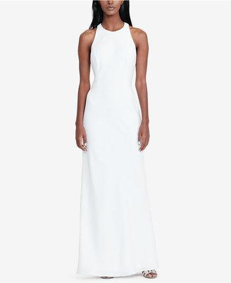 Lauren Ralph Lauren Cutout-Back Crepe Gown $230 thestylecure.com