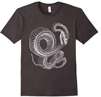 Snake Skeleton T-Shirt - Reptile Animal Boa Illustration