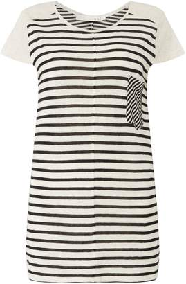 Oui Stripe pocket t shirt