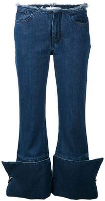 Marques Almeida Marques'almeida turnover denim jeans