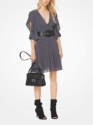 Michael Kors Mini Leopard Georgette Peekaboo Dress