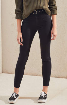 PacSun Belted Black Super High Rise Jeggings