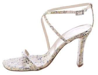 Vera Wang Crossover Satin Sandals