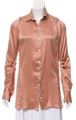 Roland Mouret Silk Long Sleeve Top w/ Tags