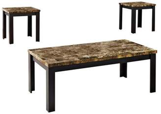Benzara 3-Piece Finely Coffee and 2 End Tables Set