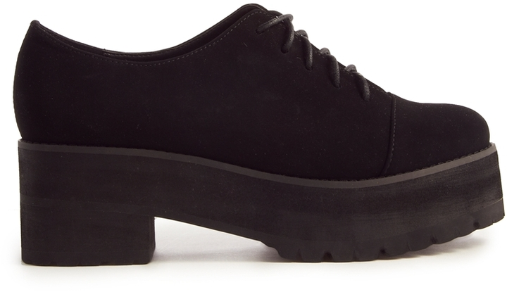 Asos MIDSUMMER Lace Up Shoes - Black