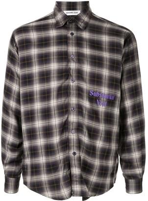 Ground Zero Substantial Void checked shirt