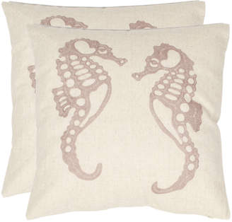 Safavieh Dahli Seahorse Pillows, Set of Two