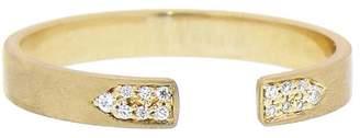 Jade Trau Diamond Accented Open Ring - Yellow Gold