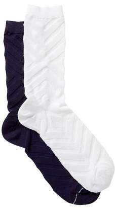 Yummie by Heather Thomson Chevron Crew Socks - Pack of 2
