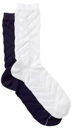 Sperry Chevron Crew Socks - Pack of 2