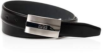 HUGO BOSS Baxter Plaque Leather Belt $95 thestylecure.com