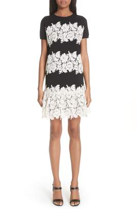 Valentino Lace Trim Knit Dress