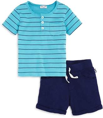 Splendid Boys' Striped Henley Tee & French Terry Shorts Set - Baby