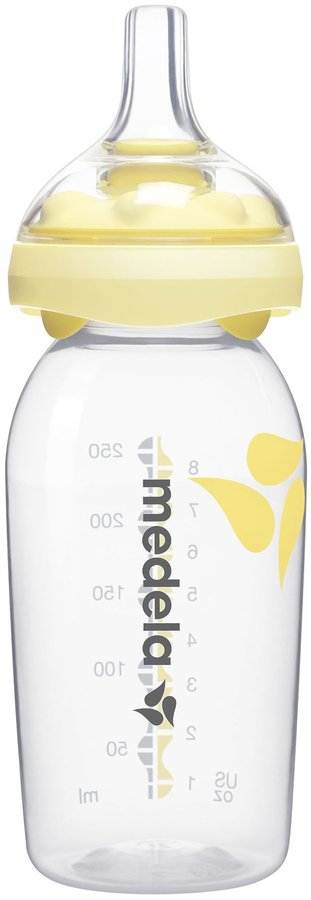 Medela Calma Breastmilk Bottle Base & Nipple Set - Yellow - 8 oz