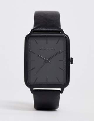 Asos Design DESIGN watch with square face dial in black