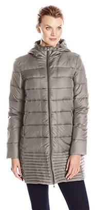 Hawke & Co Women's Mid Length Packable Down Coat