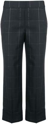 Peserico check crop trousers