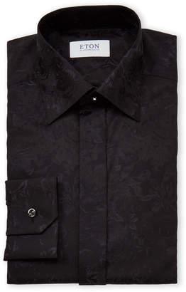 Eton Twill Floral Long Sleeve Dress Shirt