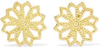Lee Grace Lace Deco Vi 14-karat Gold Earrings