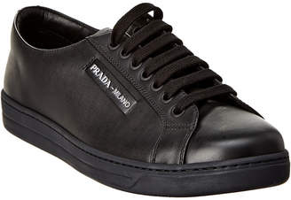 Prada Sport Etiquette Logo Leather Sneaker