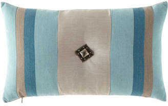 "Elaine Smith Colorblock Lagoon Pillow, 12"" x 20"""