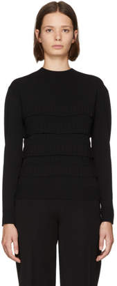 Carven Black Ruffled Turtleneck