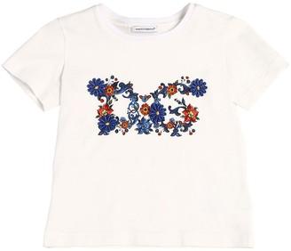 Dolce & Gabbana Flowers Print Cotton Jersey T-Shirt