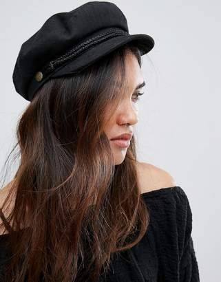 Brixton Baker Boy Hat in Black