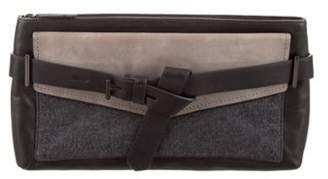 Reed Krakoff Leather Boxer Clutch grey Leather Boxer Clutch