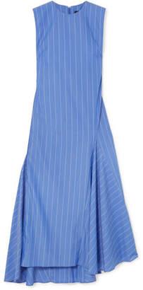 Ellery Nightwood Striped Cotton Midi Dress - Blue