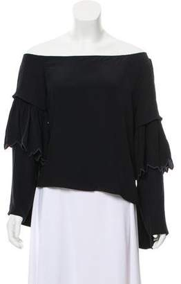 Chloé Silk Bell Sleeve Top
