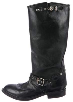 Golden Goose Leather Bike Boots