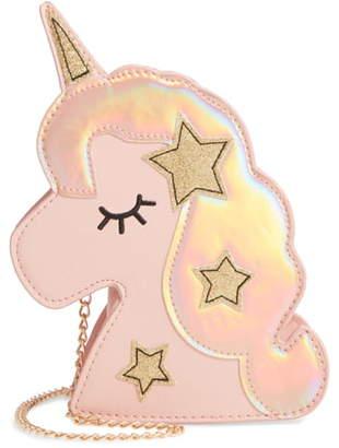 Capelli New York Unicorn Glitter Star Crossbody Bag