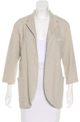 Harris Wharf London Textured Open-Front Jacket